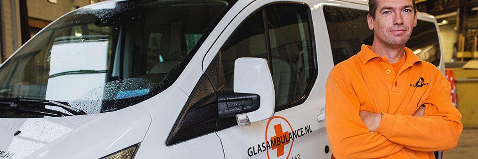 Glasamabulance - glaszetter Nijmegen en Arnhem